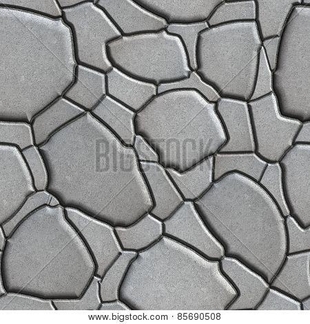 Gray Figured Paving Slabs which Imitates Natural Stone.