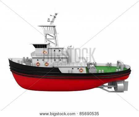 Tugboat Isolated