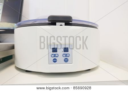Closeup table medical centrifuge