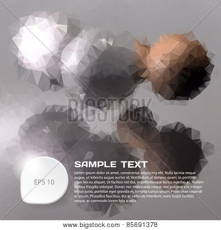 Abstract Background Of Polygonal Glass Balls With Space For Text