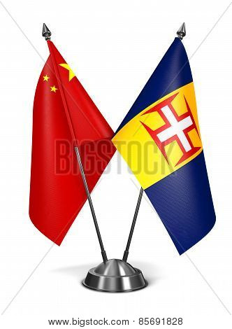 China and Madeira - Miniature Flags.