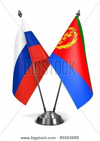 Russia and Eritrea - Miniature Flags.