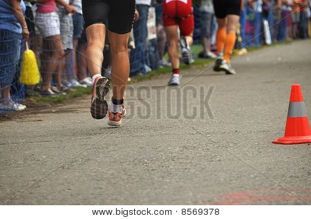 Triathletes In Marathon