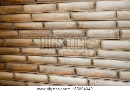 bamboo wall background and texture