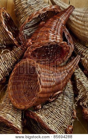 Cornucopia basket background
