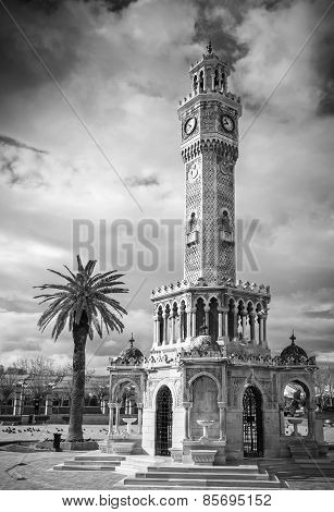 Konak Square View With Old Clock Tower, Izmir