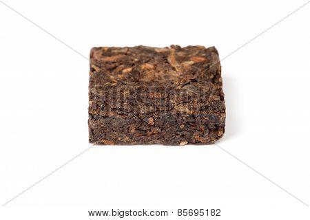Small Pressing Square Briquette Of Black Chinese Pu-erh Tea