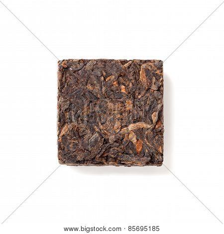 Small Pressing Briquette Of Black Chinese Shu Pu-erh Tea
