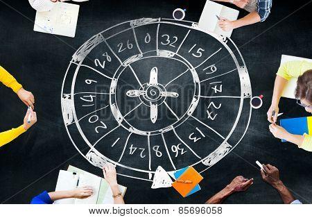 Roulette Casino Gambler Gambling Luck Concept