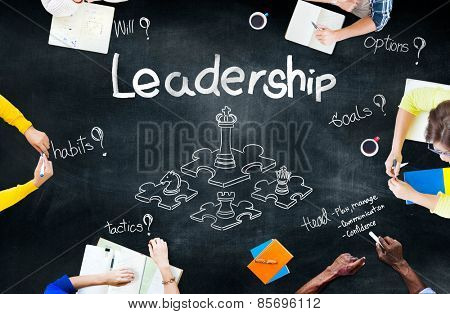 Leadership Director Planning Goal Management Concept