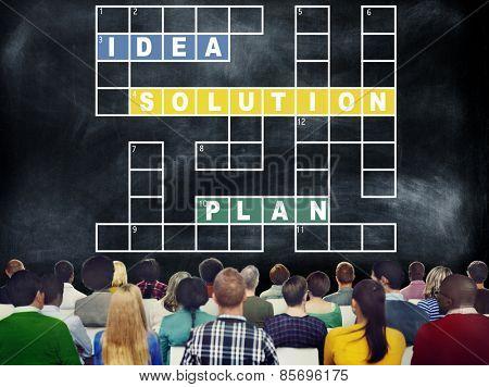 Solution Ideas Plan Solving Result Crossword Concept