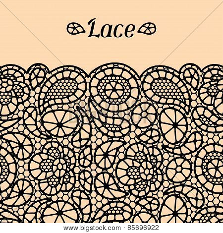 Vintage fashion lace background with abstract flowers