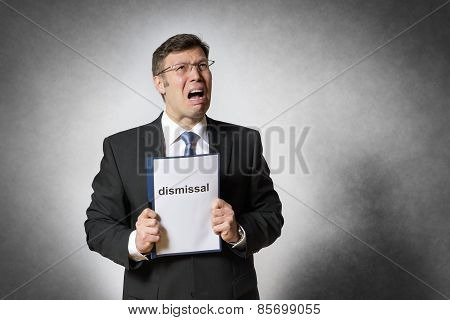 Business Man With Dismissal
