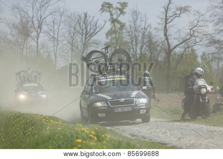 Technical Cars On Paris-roubaix