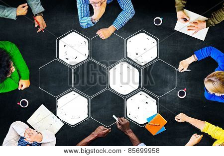 Connection Corporate Networking Bee Hive Concept