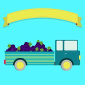 picture of truck farm  - Truck carrying grapes - JPG