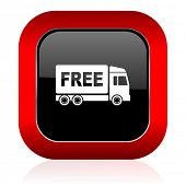 picture of free-trade  - free delivery icon transport sign  - JPG
