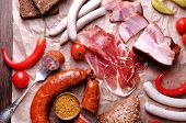 pic of deli  - Assortment of deli meats on parchment - JPG