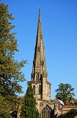 picture of church-of-england  - Parish Church of Saint Oswald Ashbourne Derbyshire England UK Western Europe - JPG
