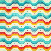 foto of zigzag  - colored zigzag line seamless pattern  - JPG