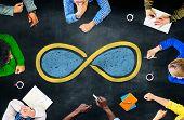 image of infinity  - Infinity Eternity Endless Loop Cycle Concept - JPG