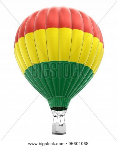 Hot Air Balloon with Bolivian Flag (clipping path included)