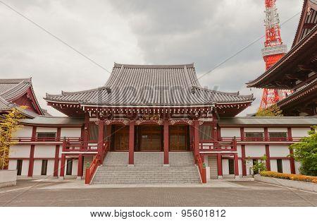 Koshoden Hall Of Zojo-ji Temple, Tokyo, Japan