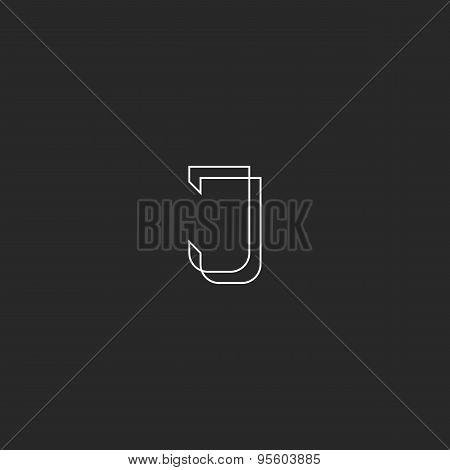 Letter J Logo Monogram, Modern Style Design Element