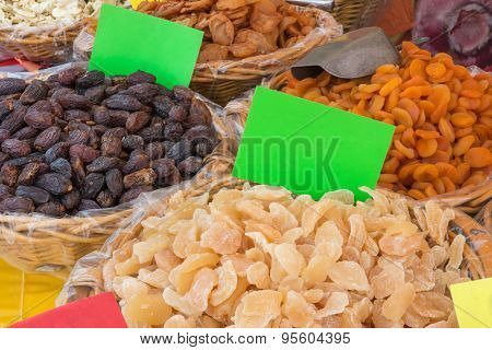 Dried Fruits Assortment: Natural Dates, Apricot And Pear