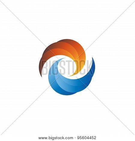 Abstract Sunset Or Sunrise And Water, Mockup Tourism Logo