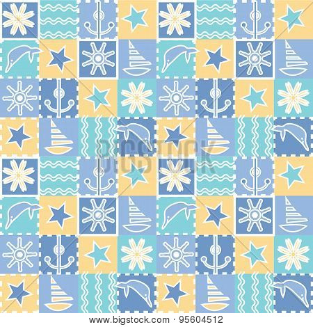 Seamless background for kids.   Baby fabric