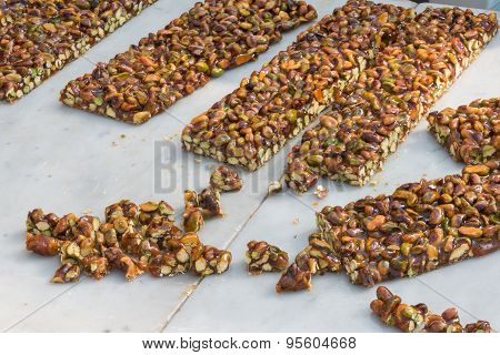 Almond, Peanut Brittle