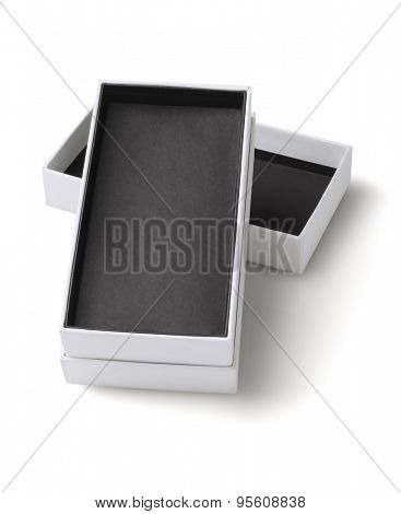 Smart Phone Cardboard Packaging Box On White Background
