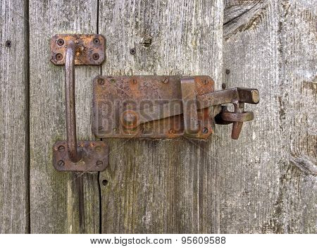 Old rusted locking
