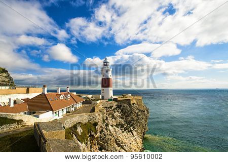 Lighthouse Of Europa Point In Gibraltar