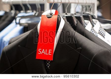 Sale In Men's Boutique Of Classical Clothes