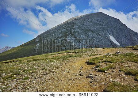 amazing view towards Vihren Peak, Pirin Mountain