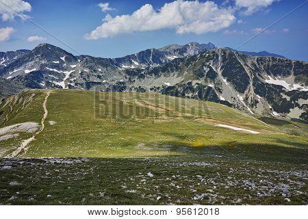 The path for climbing Mount Vihren, Pirin Mountain