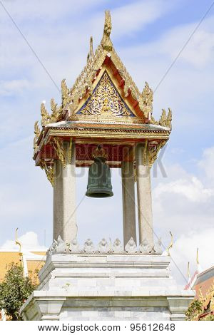 Belfry in the marble temple or Wat Benchamabophit Dusitvanaram in Bangkok, Thailand