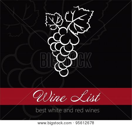 Wine list label - grape