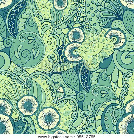 Mehendi tracery pattern, Seamless, handmade Natural mood