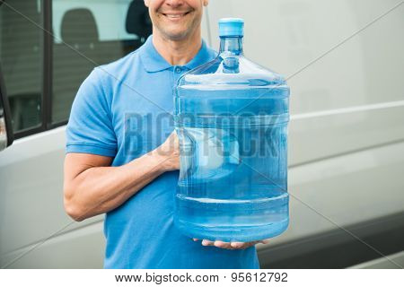 Delivery Man Carrying Water Bottle