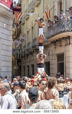 Human tower performed by castellers