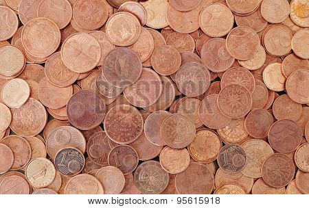 Euro coins pattern