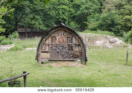 Insects Hotel In City Park Paris