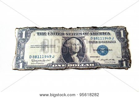 One dollar isolate on white background.