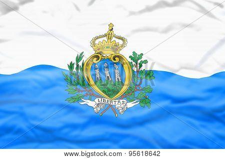San Marino flag.