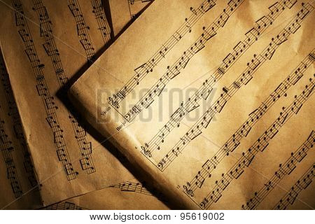 Music sheets background