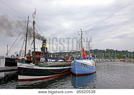 Harbour In Flensburg City, Germany