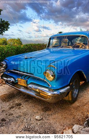 Old American classic car in Trinidad, Cuba
